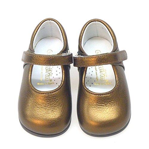 Primeros 138 05 Merceditas Bronce Bailarinas Zapatos Pasos dAIqdF