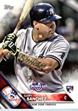 2016 Topps Opening Day #OD-146 Gary Sanchez New York Yankees Baseball Rookie Card in Protective Screwdown Display Case