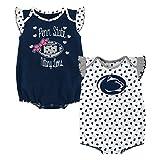 NCAA Penn State Nittany Lions Newborn & Infant Heart Fan 2pc Bodysuit Set, Multi, 3-6 Months