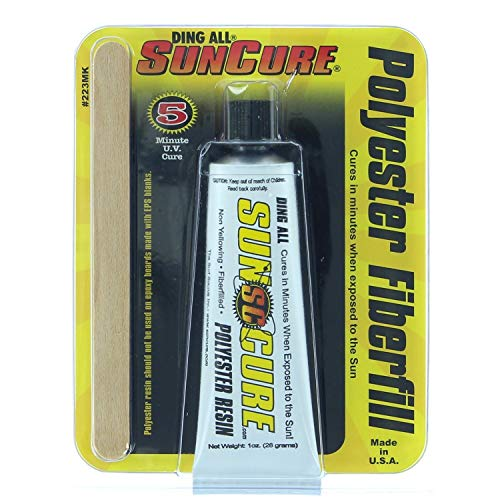 All Cure Sun Ding - Sun Cure Fiberfill Mini Tube 1.0 Oz Surfboard Ding Repair