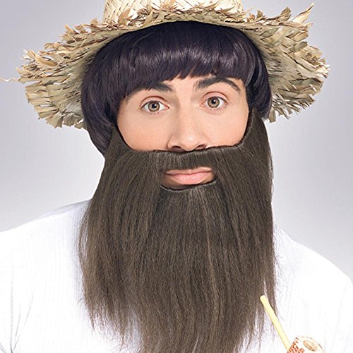 Rubie's Costume Co Full Beard Costume, Brown, Brown