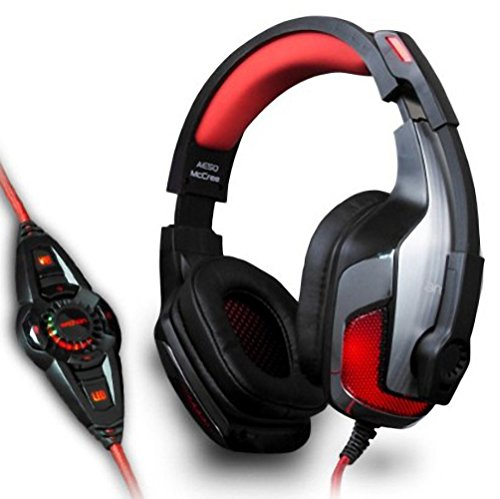 Archon AE50 McCree 7.1 CH LED USB Computer Vibration Gaming Headset with Microphone (Black)