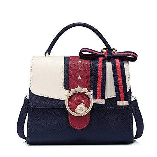 Mode Ryyy De D'épaule Pour De Main Nouveau Le Messager Sac Contraste Sac Blue De à De Shopping qEqYrgx