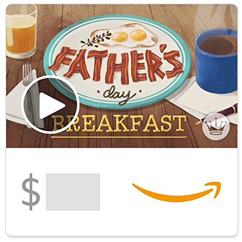 Amazon eGift Card -Father's Day Breakfast (Animated) [Hallmark]