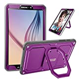 Fintie Case for Samsung Galaxy Tab A 10.1 - [Tuatara Magic Ring] 360 Rotating Multi-Functional Grip Stand Shockproof Cover Built-in Screen Protector for Tab A 10.1 Inch NO S Pen Version Tablet, Purple