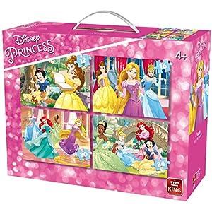 King 5509 Disney 4 In 1 Puzzle Princess 121620pezzi 4 Puzzle In Una Valigia