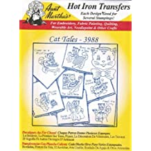 Cat Tales Aunt Martha's Hot Iron Embroidery Transfer by Aunt Martha's