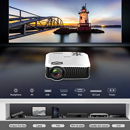 2018 New Home Projectors Theater Lcd 1080p Hd Multimedia: Projector, 2018 Updated ABOX T22 Portable Home Theater LCD
