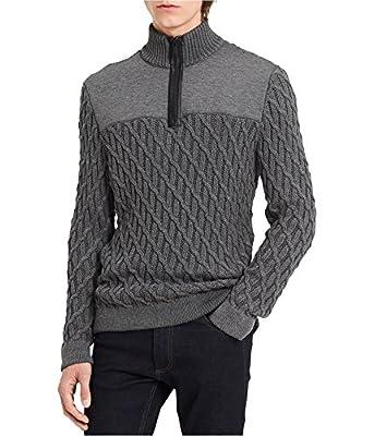 Calvin Klein Mens Textured Pullover Knit Sweater
