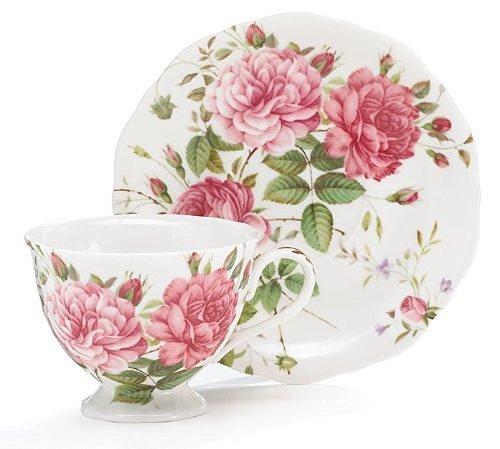 Saddlebrooke Porcelain Pink Rose Teacup