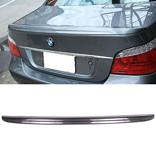 Trunk Spoiler Fits 2004-2010 BMW 5 Series E60 | M5 Style Unpainted Raw Material Carbon Fiber CF Rear Tail Lip Deck Boot Wing by IKON MOTORSPORTS | 2005 2006 2007 2008 2009