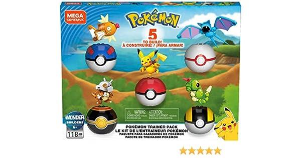 Mega Construx Pokemon Poke Ball Pack Building Set: Amazon.es ...