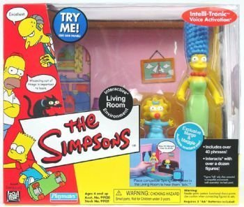 The Simpsons Living Room Playset With Exclusive Marge U0026 Maggie By Simpsons:  Amazon.co.uk: Toys U0026 Games