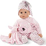 """Gotz Cookie 19"""" Soft Baby Doll in Pink with Blue Sleeping Eyes and Accessories"""