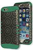Bastex Heavy Duty Three Piece Teal Green Silicone Kickstand Case Cover for Apple iPhone 6, 4.7