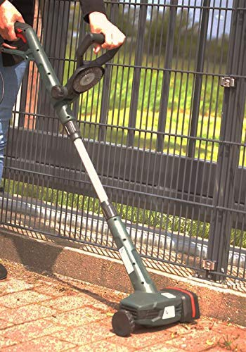 werkzeugloser B/ürstenwechsel Elektro Fugenreiniger mit 3 Metallb/ürsten Teleskopstiel Spritzschutz 400 Watt