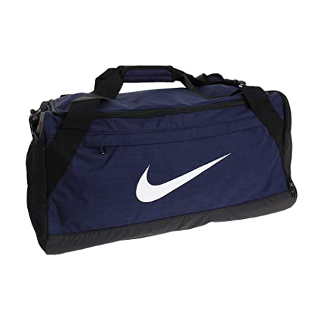 596b83235306 Nike Synthetic 27 cms Midnight Navy Black White Travel Duffle (BA5977-410)   Amazon.in  Bags