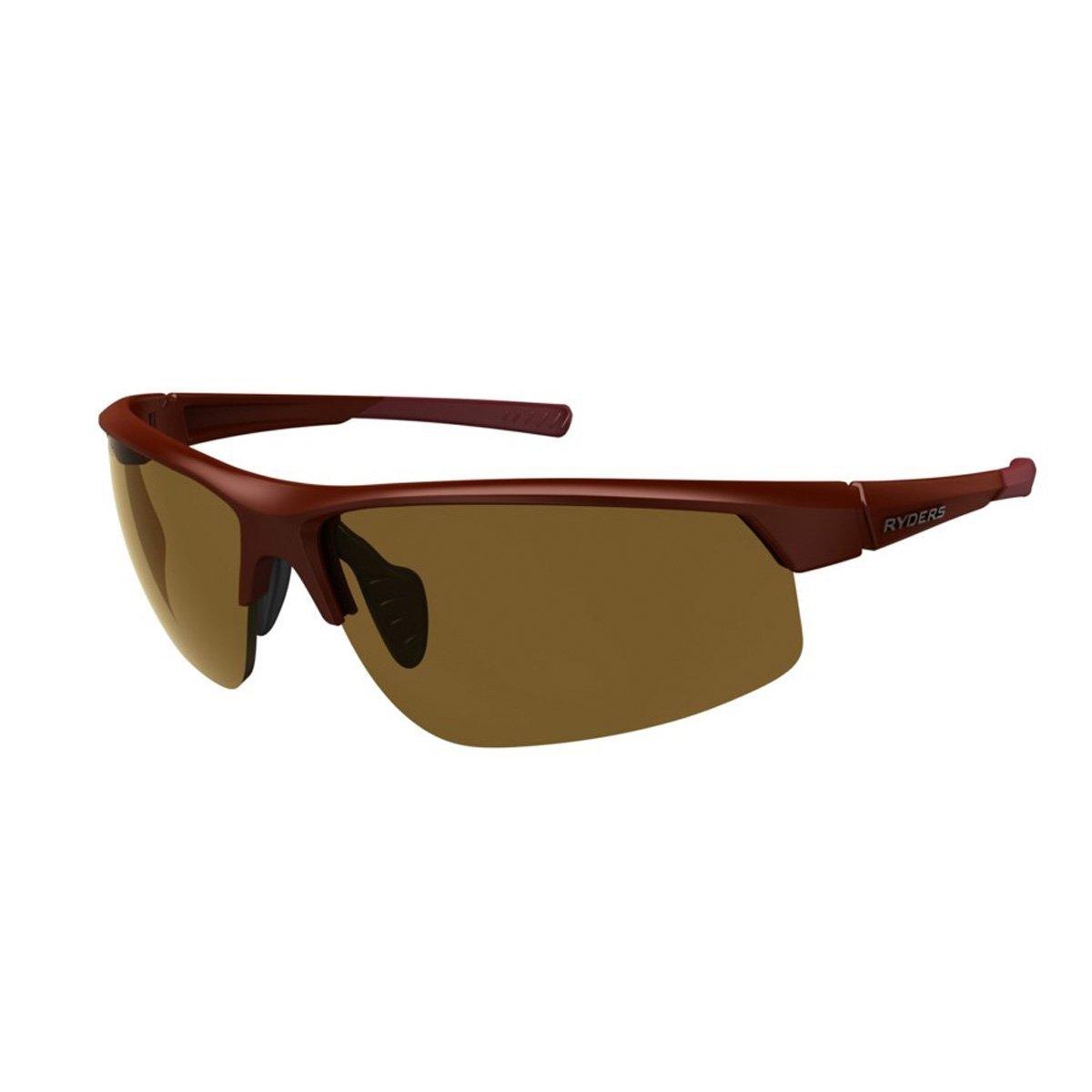 Ryders 眼鏡セーバー 偏光サングラス - カラー  MATTE DARK RED / BROWN LENS AR B07G13529F