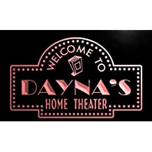 phg995-r Dayna's Home Theater Popcorn Bar Beer Neon Light Sign