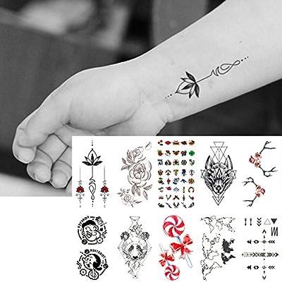 Oottati 10 Hojas Pequeñas Cute Dedo Tatuajes Temporales Lindo ...