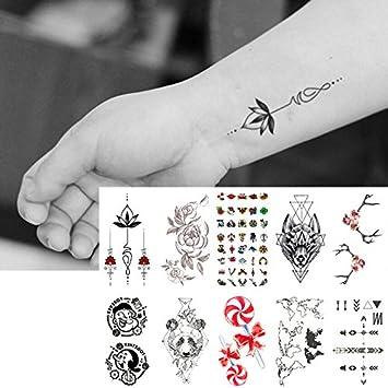 Amazoncom Oottati 10 Sheets Temporary Tattoo Small Neck Finger