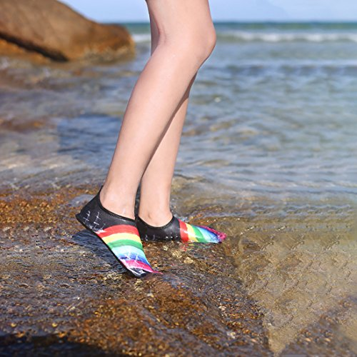 Yoga Swim Aqua Mens Rainbow Womens Sports Socks Summer Shop Surf Quick for Jingshen Exercise Dry Shoes Water Beach ZUxqwZzO