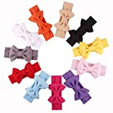 Qandsweet Baby Girls Headbands and Forked Tail Bow Photography (11 Pack L-4.5'' W-4'' Bow)