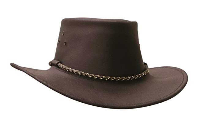 4f3e0573f2a Australian Echuca Leather Hat from Down Under