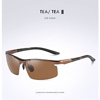 efb77ea4d866 Fashion Mens Aluminum HD Polarized Sunglasses Outdoor Sport Goggle UV400  Driving Glasses (Brown Brown)