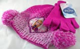 Disney Frozen Hat and Mittens Set Girl's One Size Fits Most by ABG Accessories