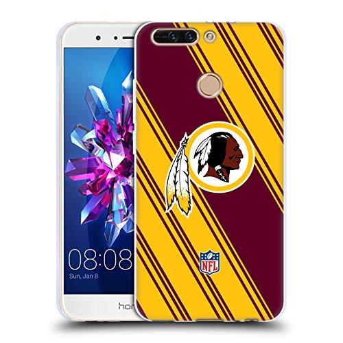 (Official NFL Stripes 2017/18 Washington Redskins Soft Gel Case for Huawei Honor 8 Pro)