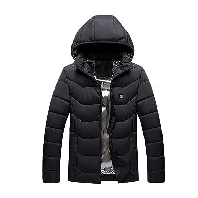 iBaste Heizjacke Herren Damen Winterjacke mit Kapuze Mantel