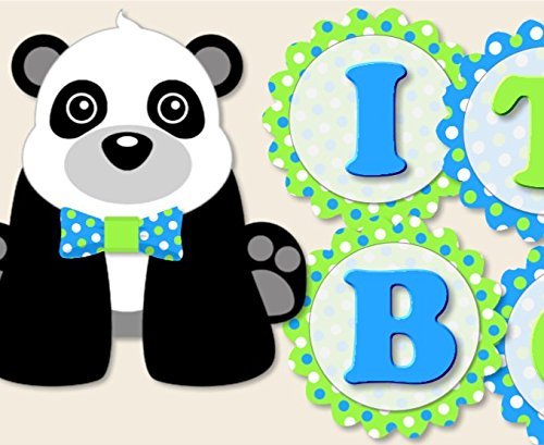 Amazon Panda Baby Shower Decoration For Boy With Bow Tie