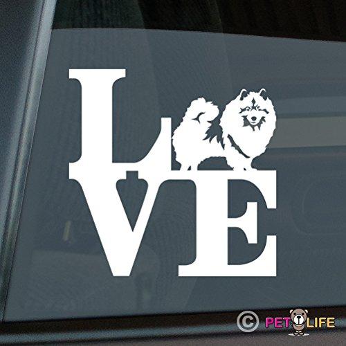 Mister Petlife Love Keeshond Sticker Vinyl Auto Window park kees