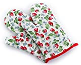 XibeiTrade Heat Resistant Oven mitts Cloth Oven Glove,1 Pair (Strawberry)
