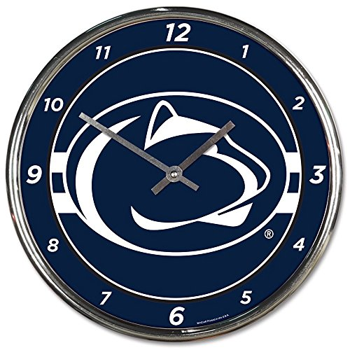 - Wincraft Penn State Nittany Lions 12 inch Round Wall Clock Chrome Plated