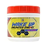 Wake up Pre Workout Powder Supplement Drink - Unlimited Energy Powder Mix for Gym, Men or Women, Weight Lifting or Cardio, Non GMO, All Natural Gluten Free, Sweetened with Stevia (Pink Lemonade)