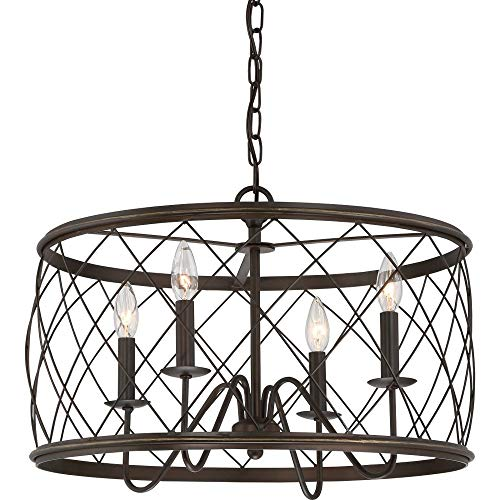 Quoizel RDY2821PN Dury Cage Pendant Lighting, 4-Light, 240 Watts, Palladian Bronze (15