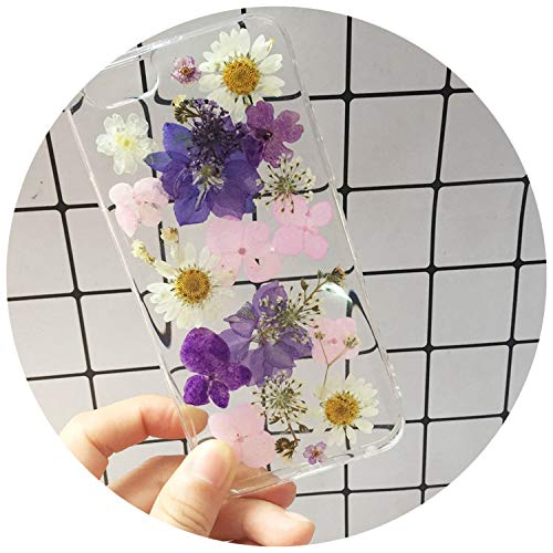 Real Dried Flower Handmade Phone Cases for iPhone X XS Max XR 6 6S 7 8 Plus Case Cover for Samsung Galaxy S8 S9 Plus Note 8 9,05,for iPhone 7 8