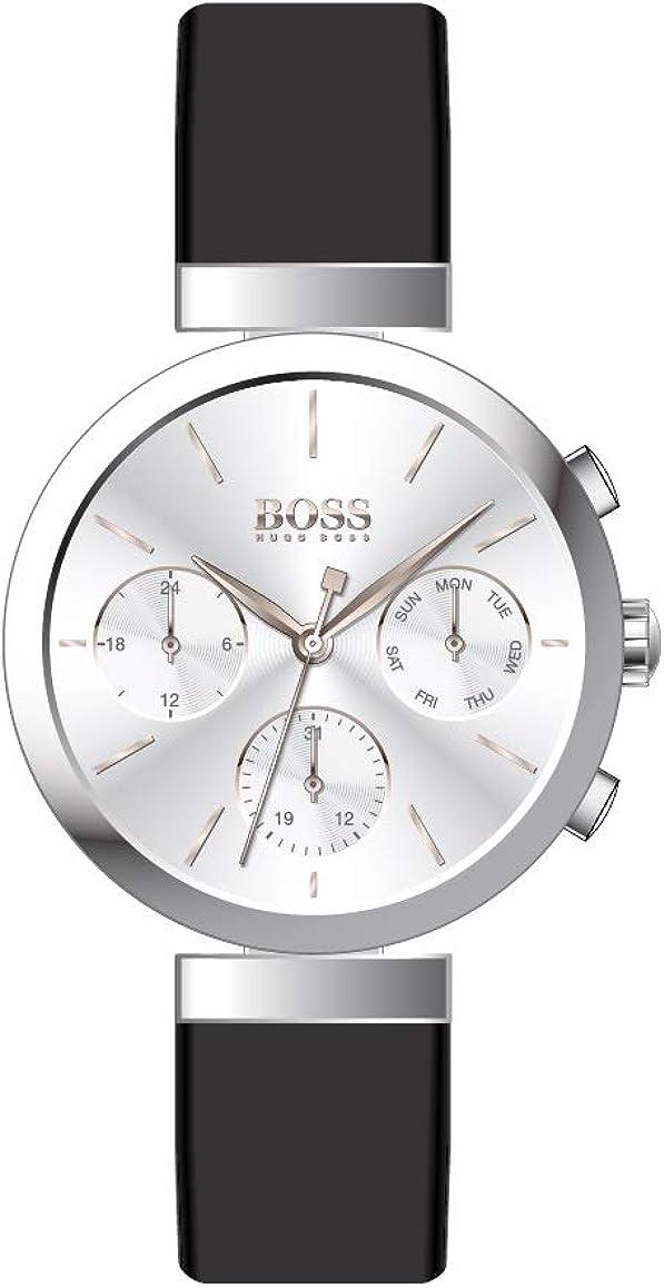 Hugo BOSS Reloj Analógico para Mujer de Cuarzo con Correa en Cuero 1502528