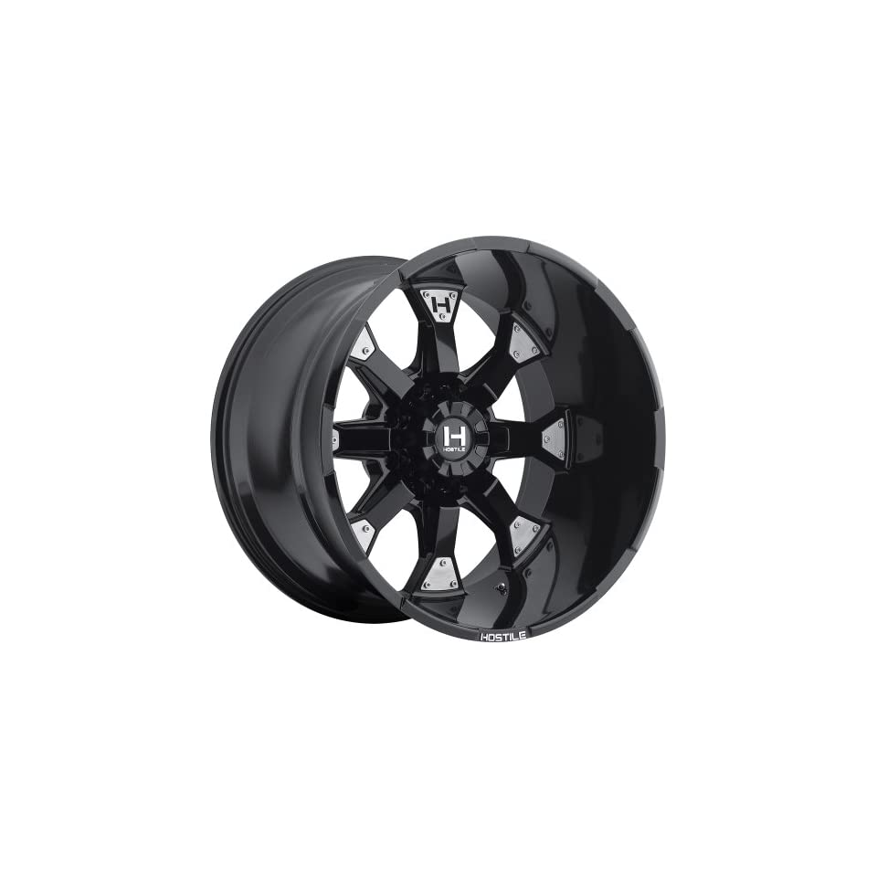 Hostile Knuckles 20 Black Wheel / Rim 8x180 with a  19mm Offset and a 125.2 Hub Bore. Partnumber H101 2010818047BB Automotive