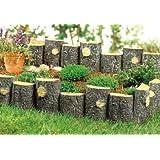 Wonderland Garden Wood Shape Fence (Pack of 4) Made of PP/PVC for Your Garden