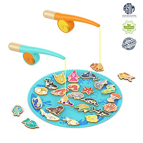 (TOP BRIGHT Toddler Fishing Game Gifts for 2 3 Year Old Girl and Boy Toys Birthday)