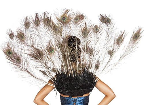 Roma Costume Women's Peacock Tail Feather, Multi, One Size