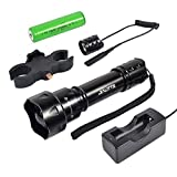 JIALITTE Night Vision Flashlight IR 850nm Infrared Light Flashlight Led Torch is Invisible to Human Eyes - To be used with Night Vision Device (Infrared Flashlight Set)