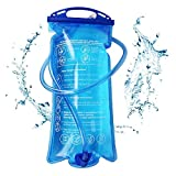 SiGuTie Hydration Bladder 1.5 Liter, Water Reservoir Leak Proof Water Bladder Bag Large Opening for Hiking Biking Climbing Cycling Running, BPA Free