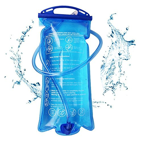 SiGuTie Hydration Bladder 1.5 Liter, Water Reservoir Leak Proof Water Bladder Bag Large Opening for Hiking Biking Climbing Cycling Running, BPA Free by SiGuTie