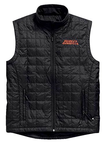 Harley Davidson Shell (Harley-Davidson Mens Stimulate Heated Black Vest (2X))