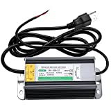 BVPOW 12V Power Suppply Outdoor 100W Waterproof IP67 LED Driver LED Power Transformer with 3-Prong US Plug 5FT Cable
