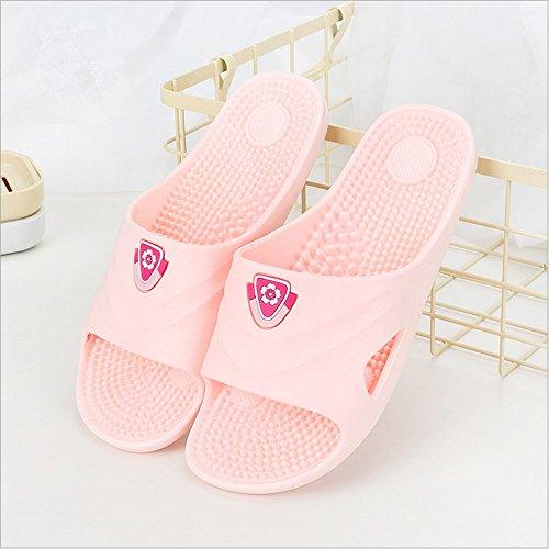 Spa Massage Tofflor Hushåll Badrum Dusch Sandal Skor För Kvinnor Män Med Samsay Rosa